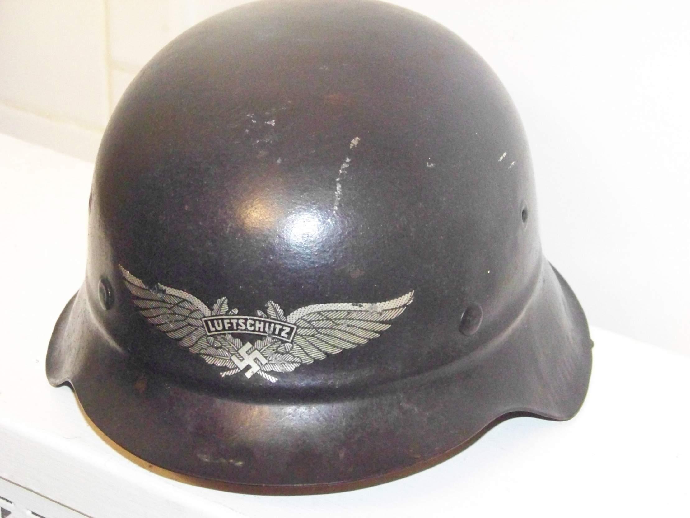 M42 Beaded Luftschutz Helmet