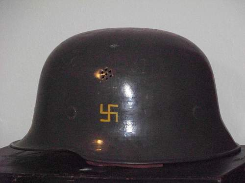 M34 single vent helmet.
