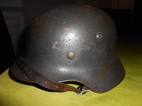 Helmet offered for discussion.