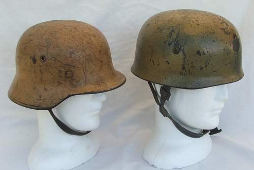 DAK M40 cammo helmet in a local museum.