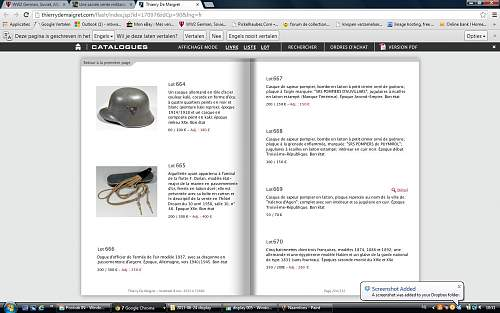 Guard helmet recently sold at Drouot France