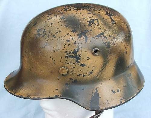 Click image for larger version.  Name:Copy of Luft M35 d-d cammo helmet 001.jpg Views:1259 Size:215.7 KB ID:605369