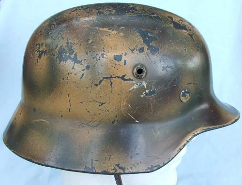 Click image for larger version.  Name:Copy of Luft M35 d-d cammo helmet 006.jpg Views:161 Size:217.8 KB ID:605377