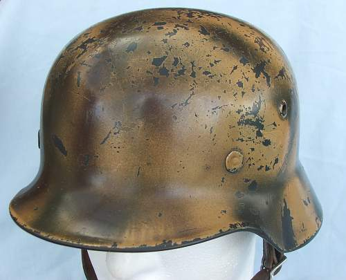 Click image for larger version.  Name:Copy of Luft M35 d-d cammo helmet 009.jpg Views:76 Size:212.1 KB ID:605380