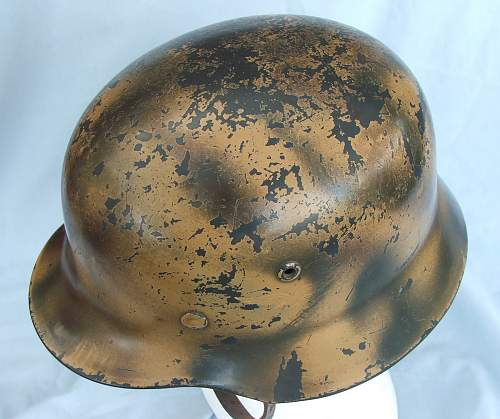 Click image for larger version.  Name:Luft M35 d-d cammo helmet 015.jpg Views:75 Size:215.1 KB ID:605386