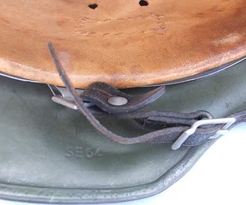 Heer apple green double decal M35 Helmet