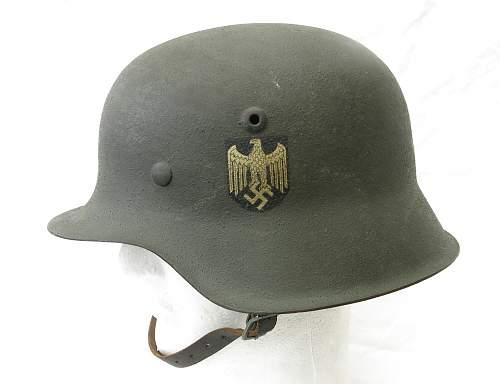 Click image for larger version.  Name:Heer M42 helmet 001.jpg Views:60 Size:222.5 KB ID:605469