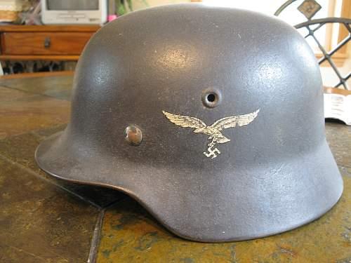 A couple German Helmets