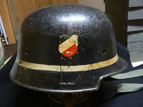 M34 Luftwaffe Fire Brigade helmet, DD Re-issue DD