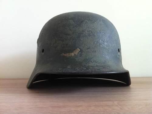 2 german helmets for revieuw