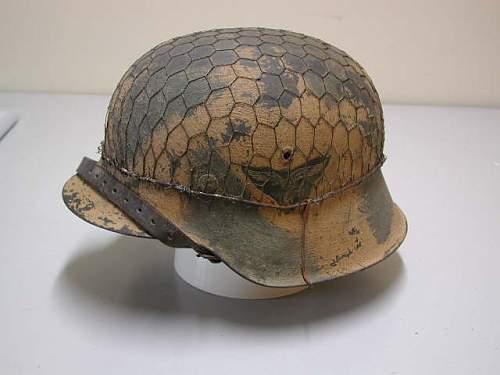 Luftwaffe camo steel helmets