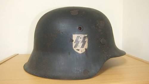 Imporssible price, German SS helmet, Is it Original?