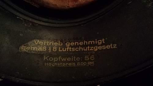 german luftshutz steel helmets-Please help w/ info, year, authenticity condition etc.