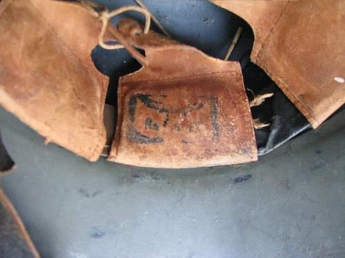 Double Decal Luftschutz Police Helmet - Three Piece Gladiator Shell - Matte Green Repaint