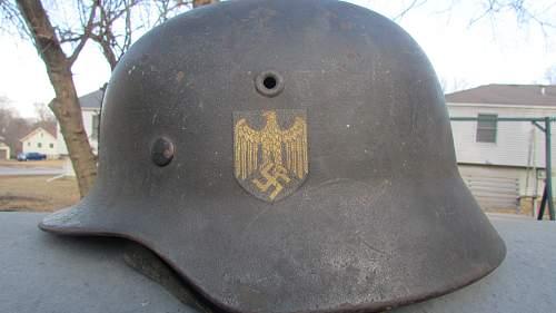 What do I have here? Kriegsmarines Helmet??