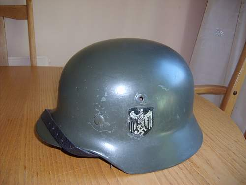M40 Double Decal Heer Helmet Opinions please
