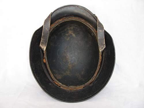 M35 Beaded Luftschutz Combat Police Helmet - Triple Decal