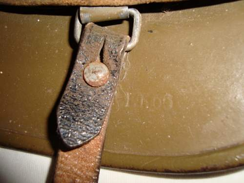 NEW FINDS. German helmet used by the Danish resistance. ( Freedom fighter)
