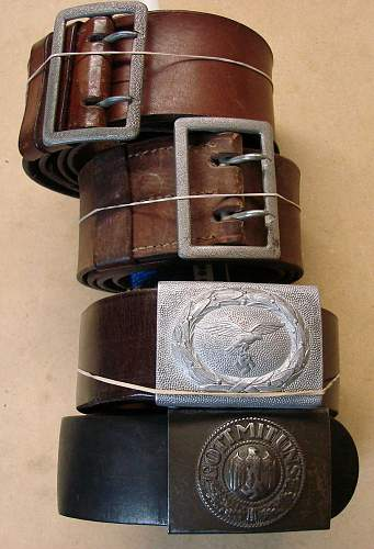 Click image for larger version.  Name:Some German WWII belts.JPG Views:199 Size:184.3 KB ID:65480