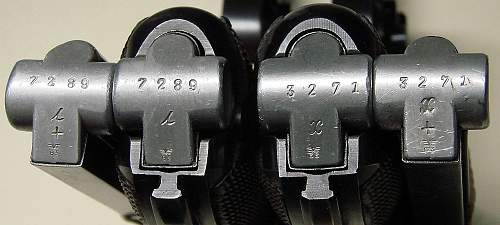 Click image for larger version.  Name:Matching 1937 and 1938 Luger Mauser  S42 magazines.JPG Views:234 Size:137.5 KB ID:65482