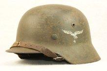 M35 DD luftwaffe helmet ( With odd Lot number Stamping )