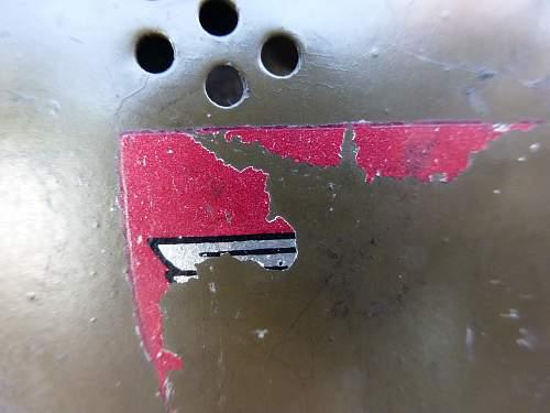 Another M33 Duckbill Stabswache helmet