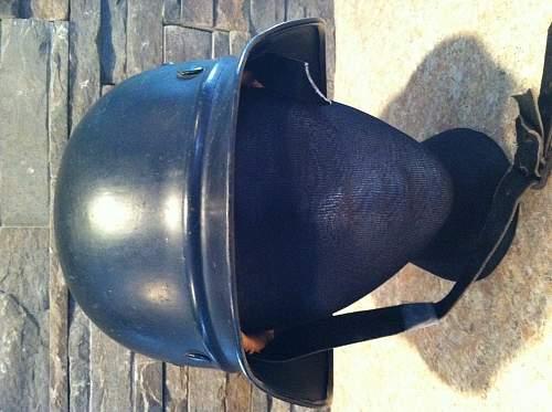 Water Protection Police (Wasserschutzpolizei) helmet pick-up
