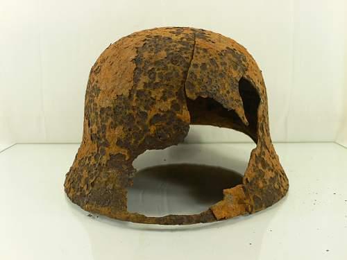 german m40 helmet rusted