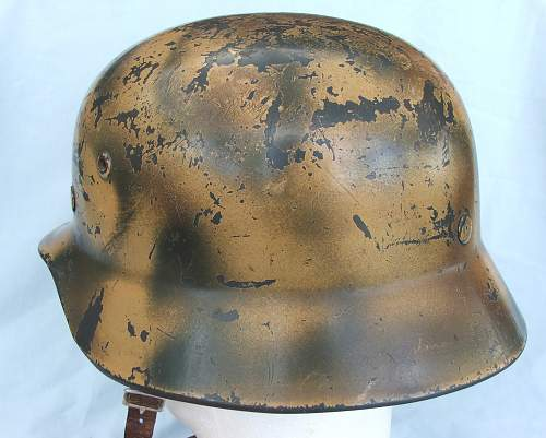 Click image for larger version.  Name:Copy of Luft M35 d-d cammo helmet 004.jpg Views:27 Size:218.6 KB ID:676841