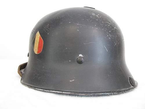 M34 Double Decal Fire Brigade Helmet