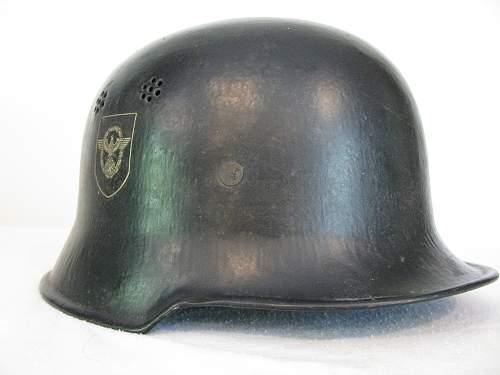 Civic M34 Fire/Police Helmet - Reverse Decals