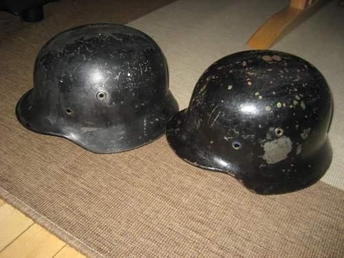 two helmet shells