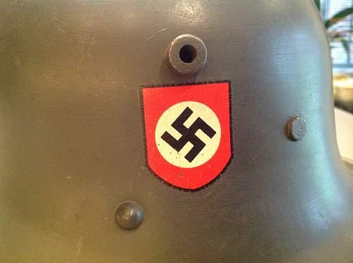 Mid-1930s Berndorfer Schutzpolizei Transitional Helmet