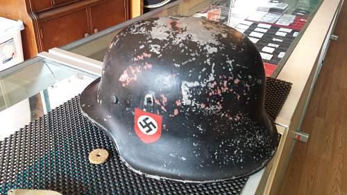 WW2 German Helmet Aluminium? Pot Metal?