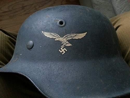 Camo M40 and Luft M42 Helmet