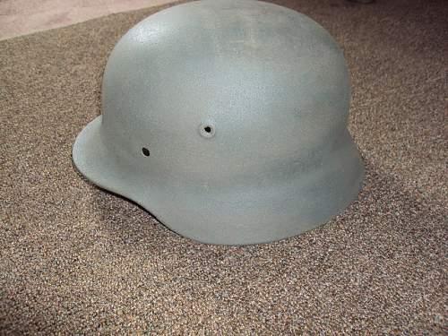 German helmet with pre drilled holes ??
