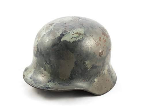 WWII Camo painted German Helmet, Real?