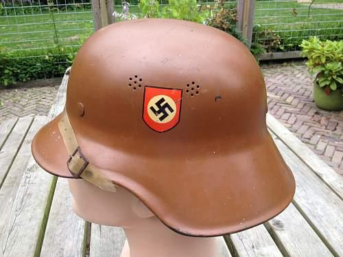 NSDAP helmet / political helmet