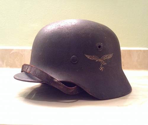 Recently purchased M40 Single Decal Luftwaffe Helmet!