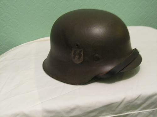 A small collection of helmets