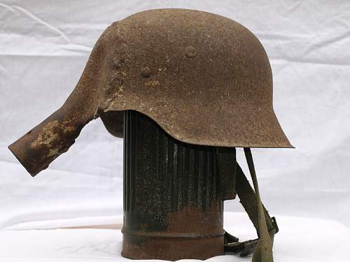 German helmets used for other reasons.