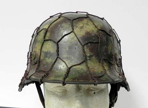 Double decal Luftwaffe Helmet with camo and wire