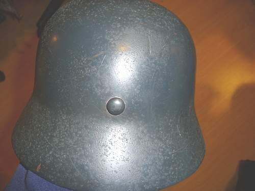Original liner band with repro helmet