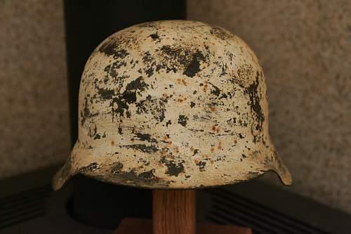Winter camo helmet - authentic