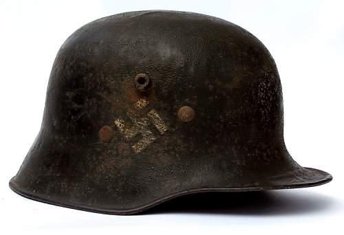 German Helmet pre WW2: Fire fighter or SS?