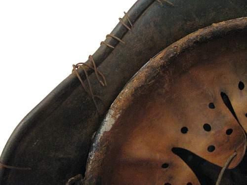 M40 Full Basket Wire/Camo Helmet - Q66 - Lot # DN255