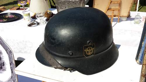 Police helmet for review.
