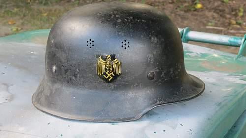 Kriegsmarine police helmet?