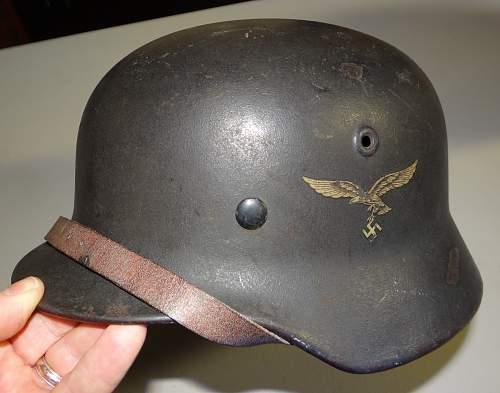 Heer & luftwaffe helmets - latest pick up
