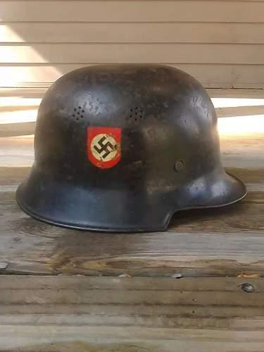 German m34 police helmet, real or fake